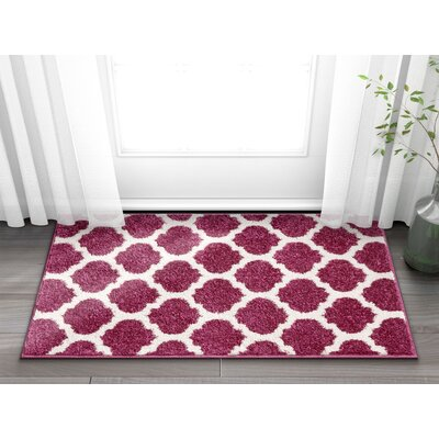 Rubino Trellis Lattice Geo Purple Area Rug Rug Size: Rectangle 2 x 3