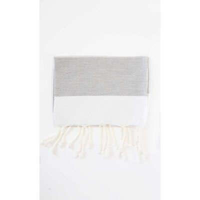 Guest Hand Towel (Set of 2) Color: Gray/White