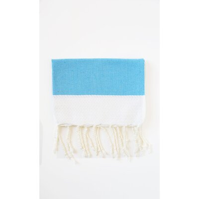 Guest Hand Towel (Set of 2) Color: White/Blue