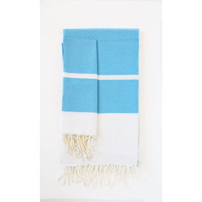 Guest Hand Towel (Set of 2) Color: Turquoise/White