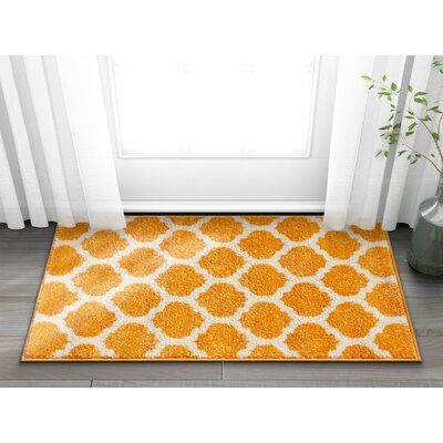 Rubino Trellis Lattice Geo Orange Area Rug Rug Size: Rectangle 5 x 7