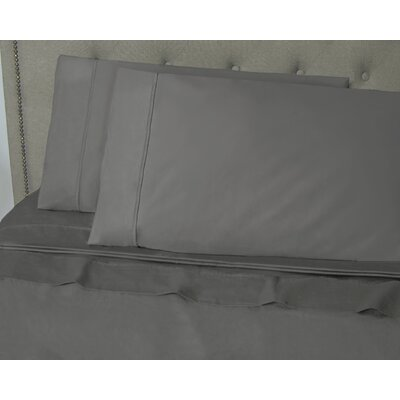 Hairston 500 Thread Count Sheet Set Size: King, Color: Gray