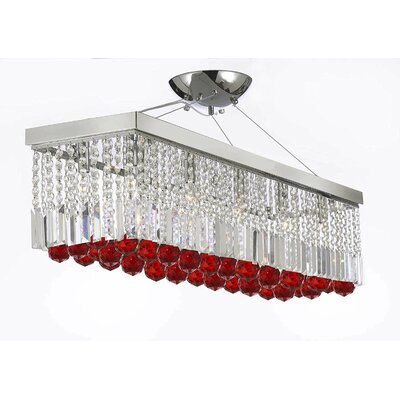 Melson Rectangular 10-Light Crystal Chandelier