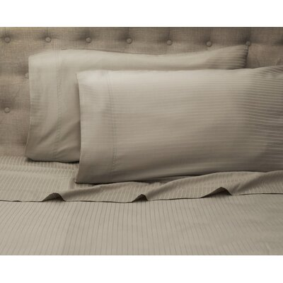 Haire 500 Thread Count Sheet Set Size: Queen, Color: Gray