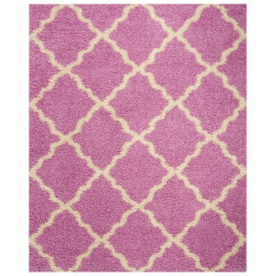 Moores Pink/Ivory Area Rug Rug Size: Rectangle 8 x 10