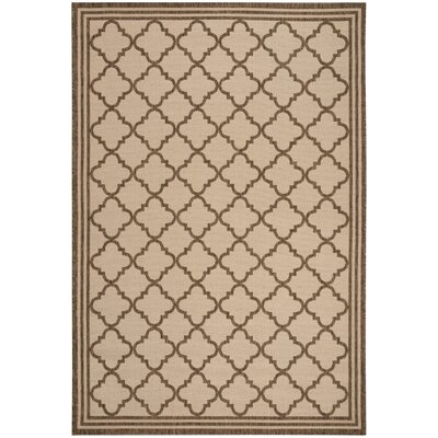 Berardi Cream/Brown Area Rug Rug Size: Rectangle 8 x 10