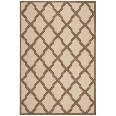 Cashion Cream/Brown Area Rug Rug Size: Rectangle 4 x 6