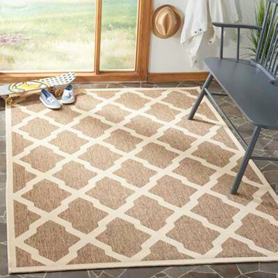 Cashion Brown/Cream Area Rug Rug Size: Rectangle 9 x 12