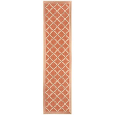 Berardi Rust/Cream Area Rug Rug Size: Runner 2 x 8