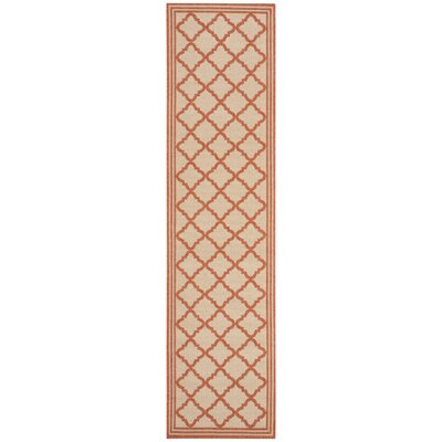 Berardi Cream/Rust Area Rug Rug Size: Runner 2 x 8