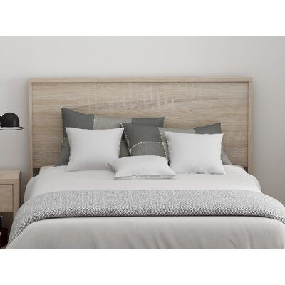 Cowell Panel Headboard Color: Natural, Size: Queen