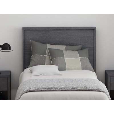 Cowell Panel Headboard Color: Espresso, Size: Twin