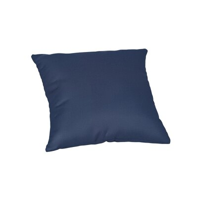 Feagin Sunbrella Solid Outdoor Throw Pillow Color: Canvas Navy, Size: 20 x 20
