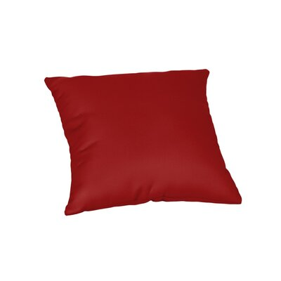 Feagin Sunbrella Solid Outdoor Throw Pillow Color: Canvas Jockey Red, Size: 18 x 18