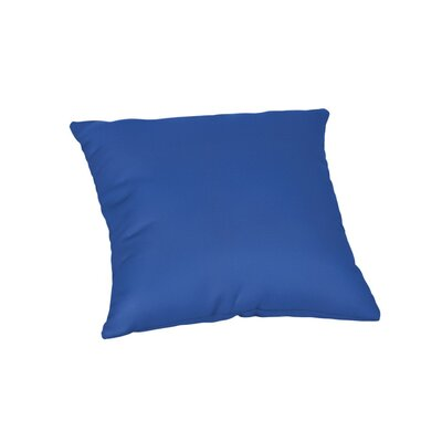 Feagin Sunbrella Solid Outdoor Throw Pillow Color: Canvas True Blue, Size: 20 x 20