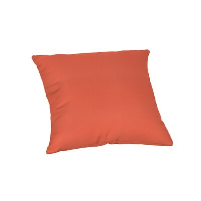 Feagin Sunbrella Solid Outdoor Throw Pillow Color: Canvas Melon, Size: 18 x 18