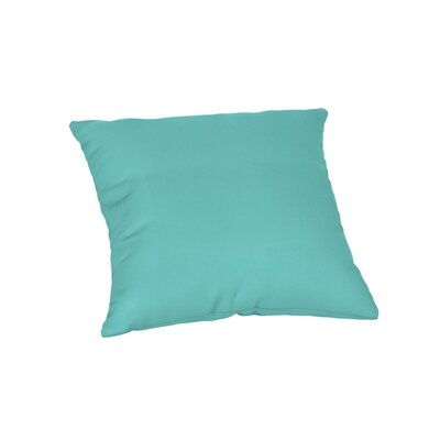 Feagin Sunbrella Solid Outdoor Throw Pillow Color: Canvas Aruba, Size: 18 x 18