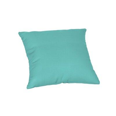 Feagin Sunbrella Solid Outdoor Throw Pillow Color: Canvas Aruba, Size: 20 x 20