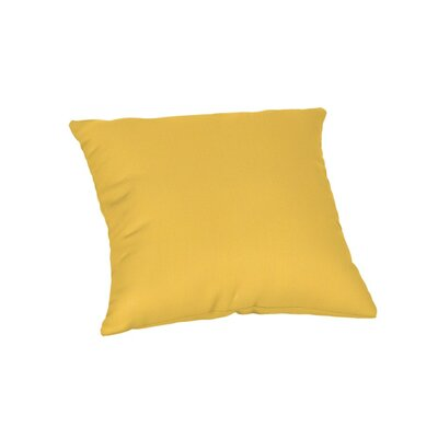 Feagin Sunbrella Solid Outdoor Throw Pillow Color: Spectrum Daffodil, Size: 18 x 18