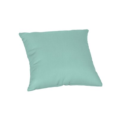 Feagin Sunbrella Solid Outdoor Throw Pillow Color: Spectrum Mist, Size: 18 x 18