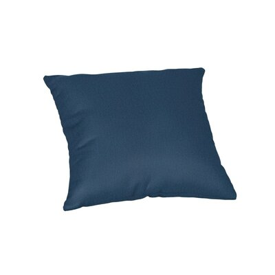 Feagin Sunbrella Solid Outdoor Throw Pillow Color: Spectrum Indigo, Size: 18 x 18