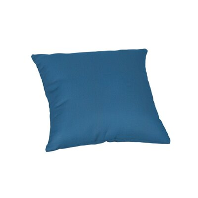 Feagin Sunbrella Solid Outdoor Throw Pillow Color: Canvas Regatta, Size: 18 x 18