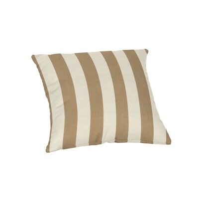 Ehrhart Sunbrella Outdoor Throw Pillow Color: Maxim Heather Beige, Size: 18 x 18