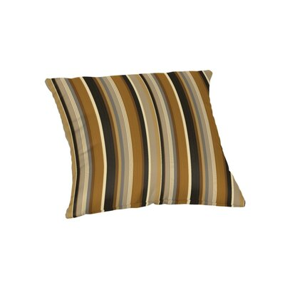 Deese Sunbrella Outdoor Throw Pillow Color: Espresso Stripe