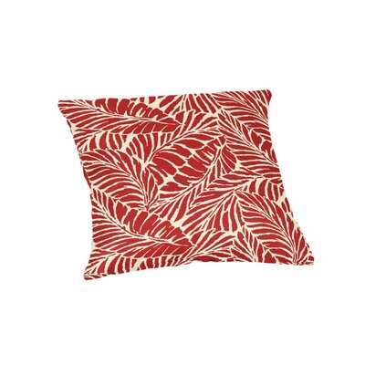 Edgemoor Outdoor Throw Pillow Color: Red, Size: 18 x 18