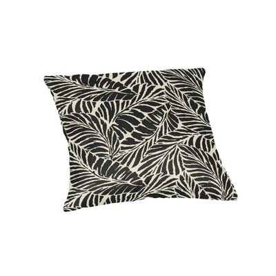 Edgemoor Outdoor Throw Pillow Color: Black, Size: 18 x 18