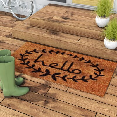 Sulema Hello Doormat Mat Size: Rectangle 2 x 3