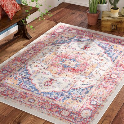 Turner Vintage Oriental Red Area Rug Rug Size: Rectangle 710 x 103
