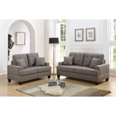 Draughn 2 Piece Living Room Set Upholstery: Coffee