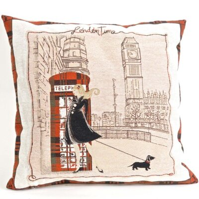 Santagata London Time Pillow Cover