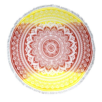 Rojas Thick Round Yoga Mat Beach Towel