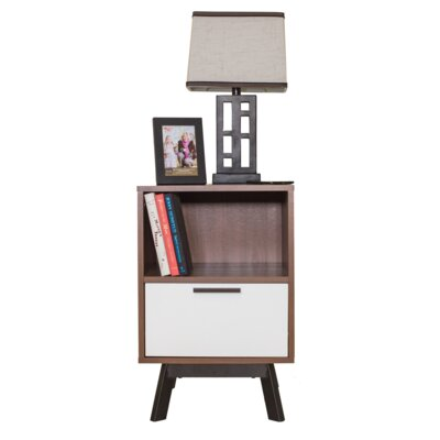 Weinstock 1 Drawer Nightstand Color: Reddish Brown