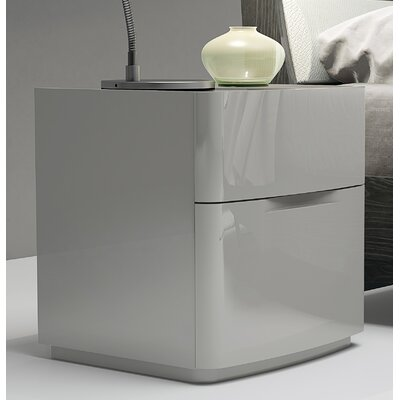 Siegle 2 Drawer Nightstand