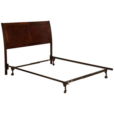 Wrington Sleigh Headboard Size: Full, Color: Antique Walnut