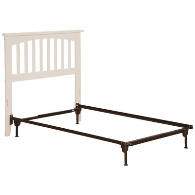 Richland Slat Headboard Size: Twin, Color: White