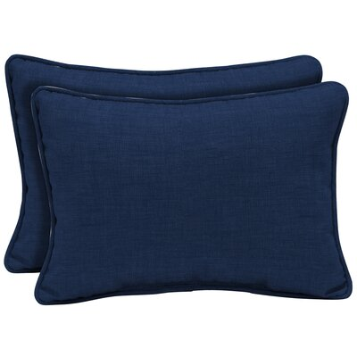 Kitts Tropical Reversible Outdoor Lumbar Pillow Color: Cream