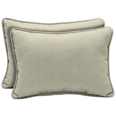 Kizer Texture Outdoor Lumbar Pillow Color: Gray