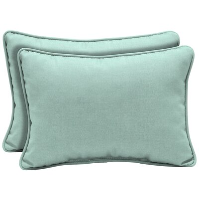 Kitts Tropical Reversible Outdoor Lumbar Pillow Color: Blue