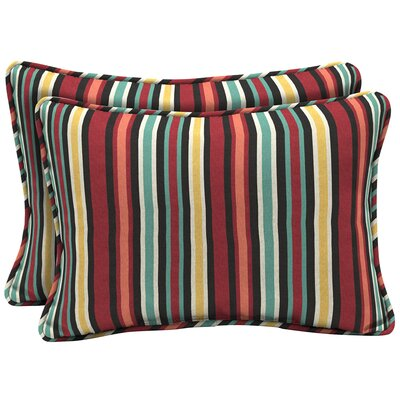 Espana Striped Outdoor Lumbar Pillow