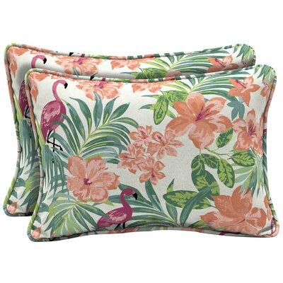 Kivett Tropical Outdoor Lumbar Pillow