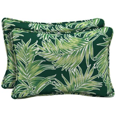 Kittleson Tropical Outdoor Lumbar Pillow