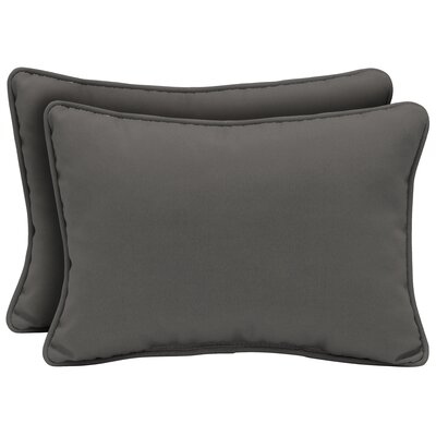Cangelosi Texture Outdoor Lumbar Pillow Color: Gray