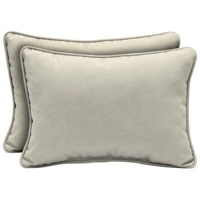 Cangelosi Texture Outdoor Lumbar Pillow Color: Cream