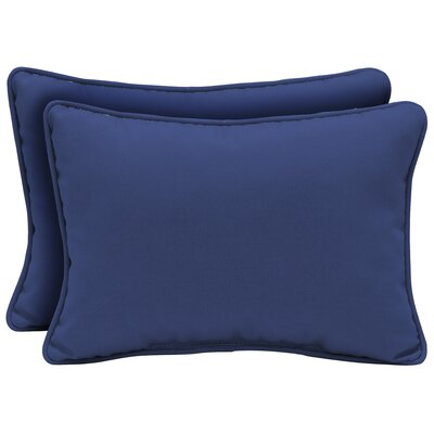 Cangelosi Texture Outdoor Lumbar Pillow Color: Blue