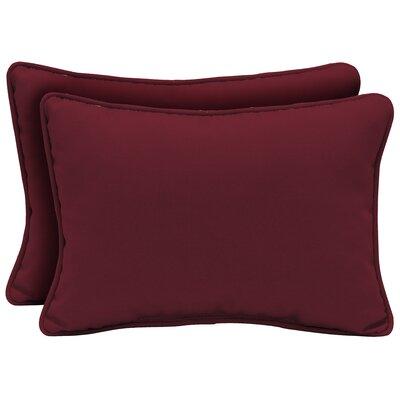 Cangelosi Texture Outdoor Lumbar Pillow Color: Red