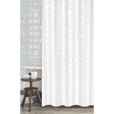 Mikkelsen Shower Curtain Color: White